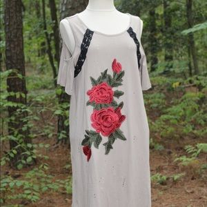 Distressed Rose Tunic